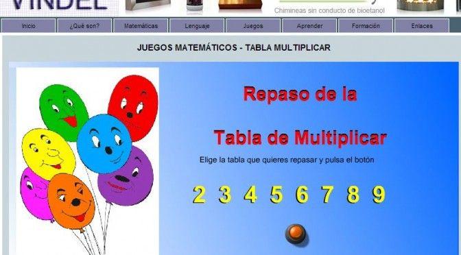 Cuadernos digitales Vindel: juegos matemáticos - tabla de multiplicar