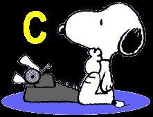 Oh my Alfabetos!: Alfabeto de Snoopy con máquina de escribir.