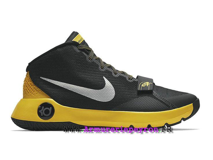 a26a4be38b76c Nike KD Trey 5 III Prix Chaussures De BasketBall Pas Cher Pour Homme Noir/Argent/Jaune  749378_007   http://www.armureriepeyron.fr/   Sneakers nike, ...