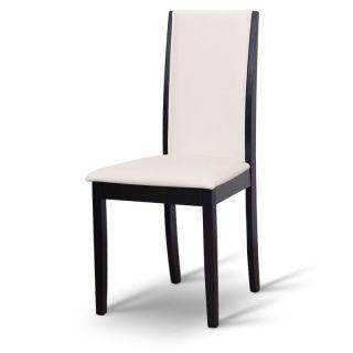 Stolička VENIS, wenge/ekokoža biela