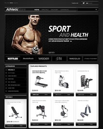 Ce template e-commerce Clicboutic est idéal pour la vente en ligne d'articles de sport