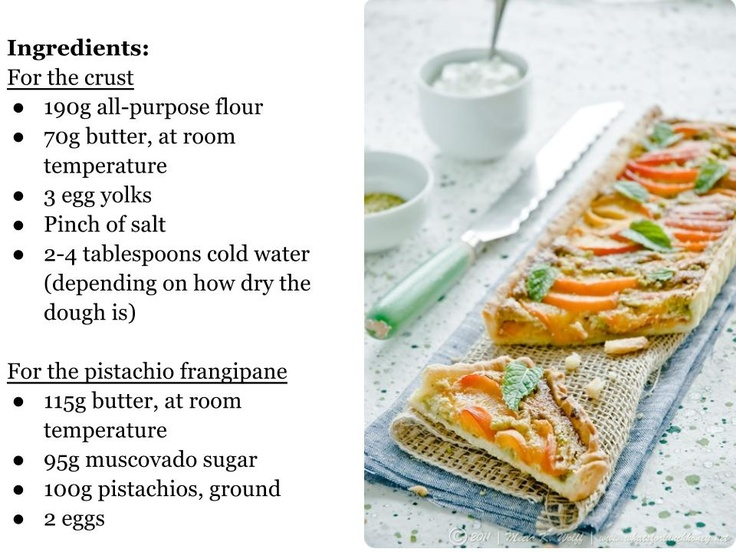 Apricot and Pistachio Frangipane Tart - What's For Lunch, Honey ...