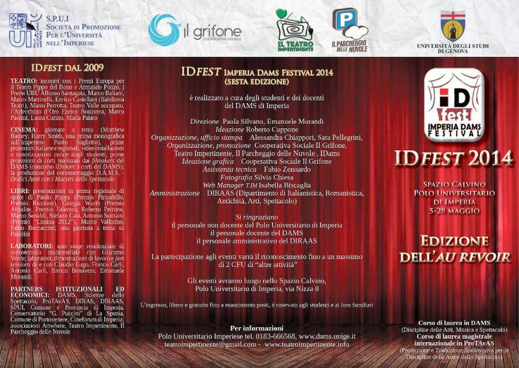 Il Blog del Teatro Impertinente: IDFest 2014 - si apre il 5 Maggio AU REVOIR