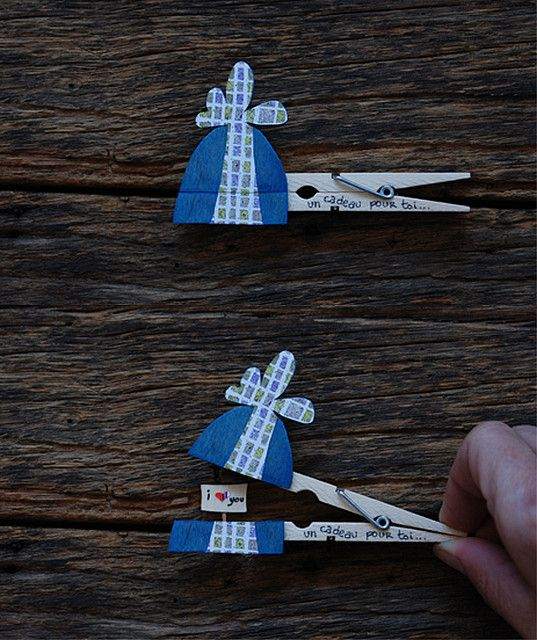 clothespin note