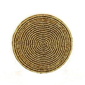 Té Coaster oro cuentas mantel hogar decoraciones indio, conjunto de cuatro: Amazon.es: Hogar