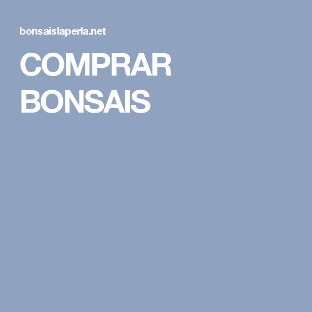 COMPRAR BONSAIS