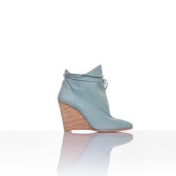 Plomo: Camille Ankle Booties Aqua