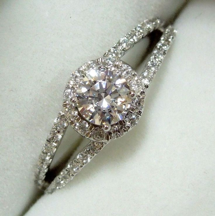 1.20 CT Solitaire ROUND CUT 10k Solid WHITE GOLD Wedding Engagement Ring