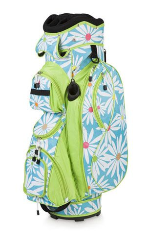 """Room It Up/All For Color Ladies Golf Bags Feature:    14 full-length divided club holes  Numerous zip pockets  Multiple lifting handles and hand grips  Dimensions: 9.5"""" x 9.5"""" x 34.5""""  100% Polyester  Imported"""