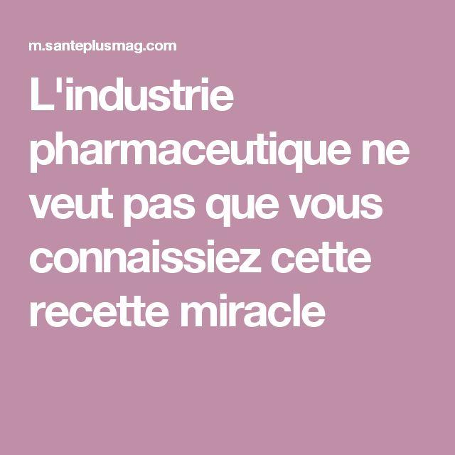 L'industrie pharmaceutique ne veut pas que vous connaissiez cette recette miracle