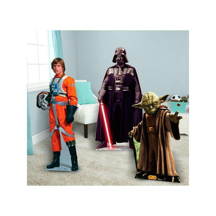 Star Wars Luke Skywalker, Darth Vader & Yoda Standup Set, Multicolor