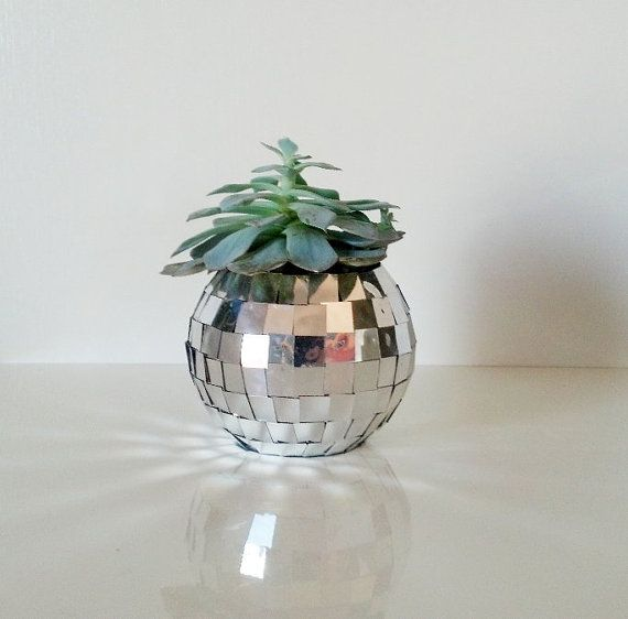 Disco Ball Succulent Planter // Small By Thrival On Etsy, $30.00