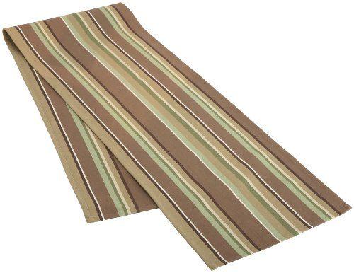 DII Garden Grove Stripe Table Runner