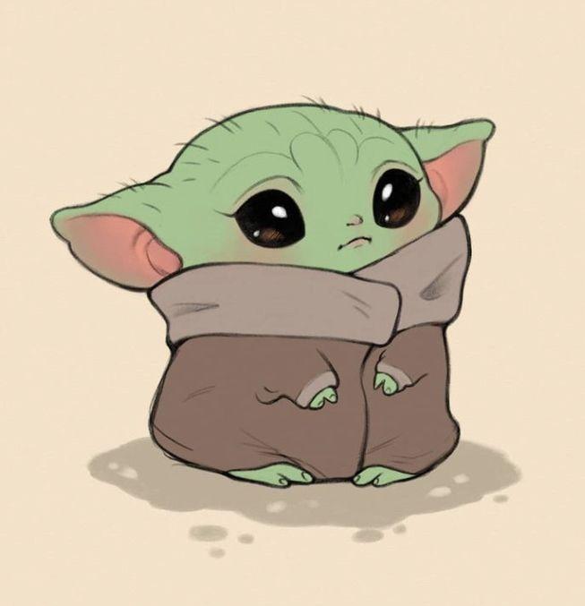 Baby Yoda Cute Cartoon Drawings Yoda Art Cute Disney Drawings