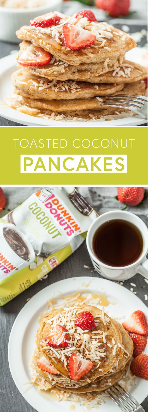 What could be better to wake up to than these Toasted Coconut Pancakes with Dunkin' Donuts® Coconut Flavored Coffee? Featuring the rich and tasty flavors you love, this breakfast combination is sure to make mornings even brighter. Find all the ingredients you'll need to start your day with this delicious duo by heading to Target.