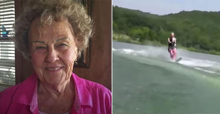 Fitness-Motivation: Die 90-Jährige fährt Wasserski #News #Unterhaltung