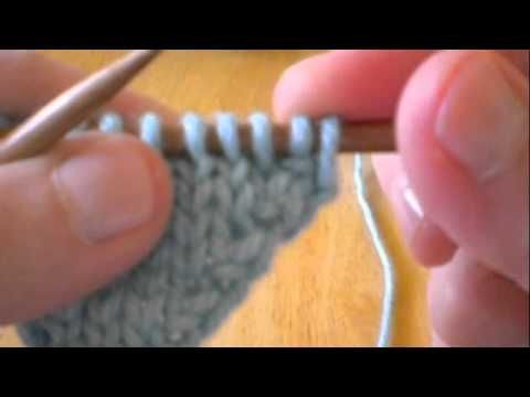 Making a stitch - increasing.  this one makes a stitch by knitting first into the front of a stitch and then into the back.