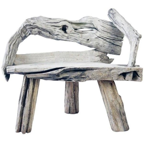 Perfect Preowned Swedish Driftwood Chair liked on Polyvore featuring home furniture Second Hand