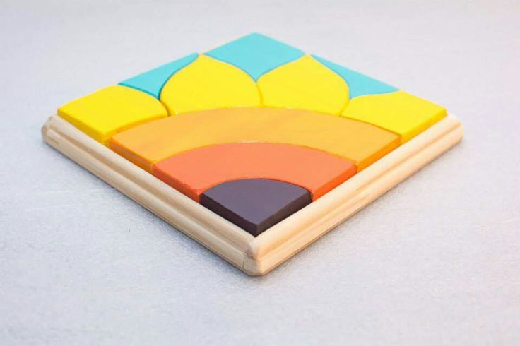 Puzzle Girasol Pedagogia Waldorf Juguetes de Madera