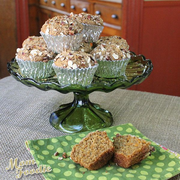 """Sweet Potato Pie"" Oatmeal Muffins"
