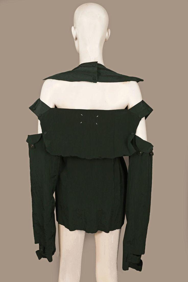 Maison Martin Margiela deconstructed crinkled jacket, c. 1990s 4