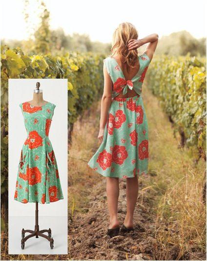 Cation Designs: Anthropologie Knock-Off: the Backswept Dress