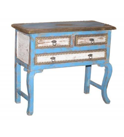 Nowa drewniana konsola od Indian Meble: http://bit.ly/1StVfrl Zdobiona kolorowymi farbami stanowi doskonałą dekorację domu. #IndyjskieMeble