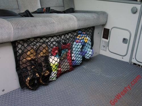 Bench Seat Cargo Net - GoWesty Camper Products - parts supplier for VW Vanagon, Eurovan, and Bus