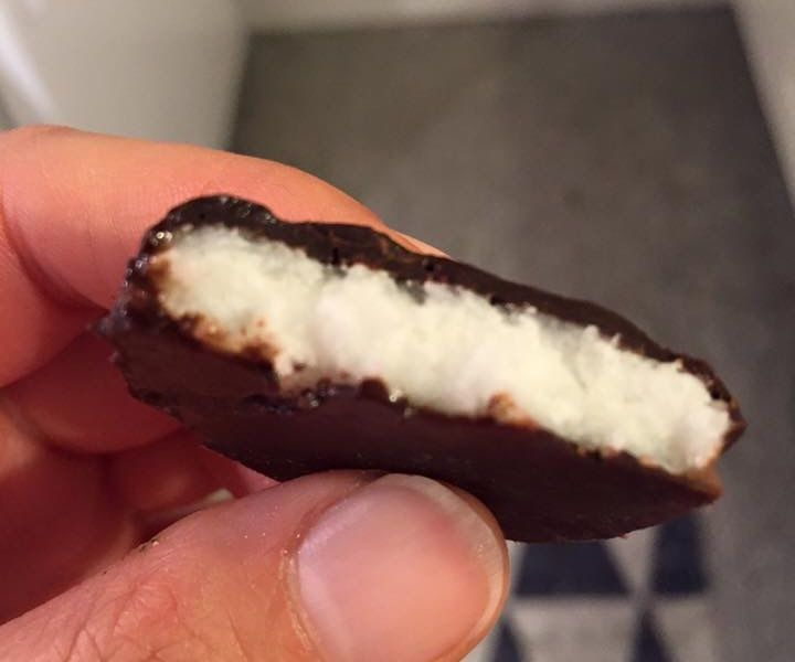 Here is a little recipe I made up because I like peppermint patties, especially after a meal, but those little patties have a lot of sugar! I am predominantly a paleo eater at home, so I was wondering if I could make some myself, with paleo ingredients. I was thinking the sugary mint candy could be duplicated with some coconut oil and coconut flakes, and it worked pretty well.After the success of my mint version, I realized this was kind of like a mounds / almond joy, so I decided to make a…