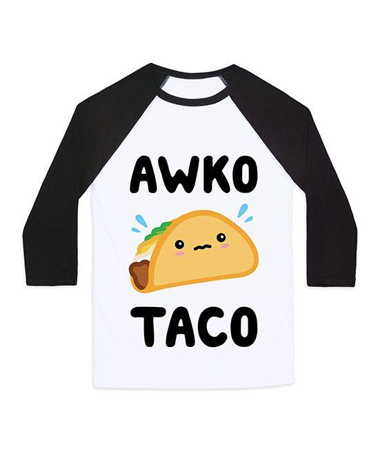 'Awko Taco' Unisex Baseball Tee