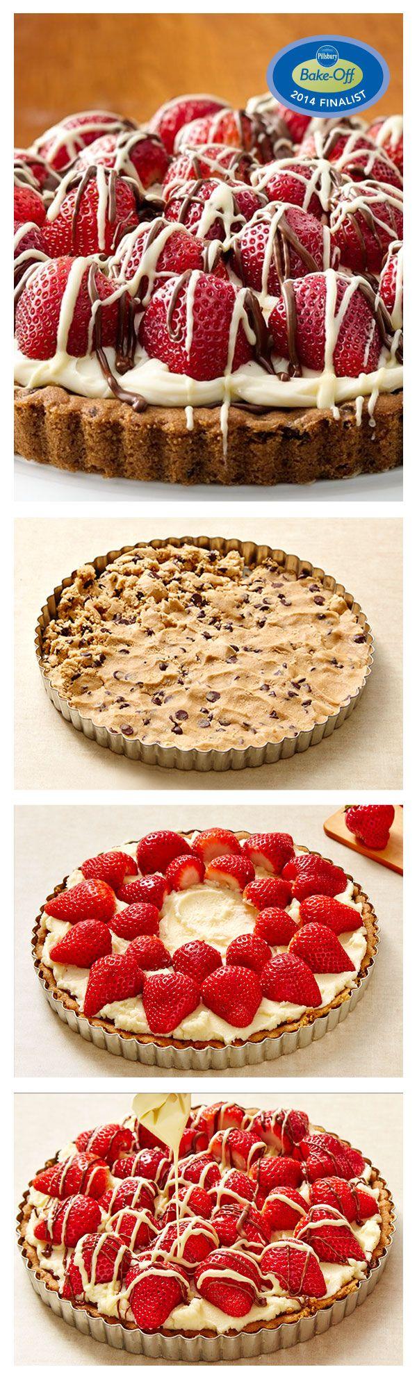 47th Bake-Off Contest Finalist: Strawberry-Mascarpone-Hazelnut Chocolate Tart by Pamela Shank from Parkersburg, WV