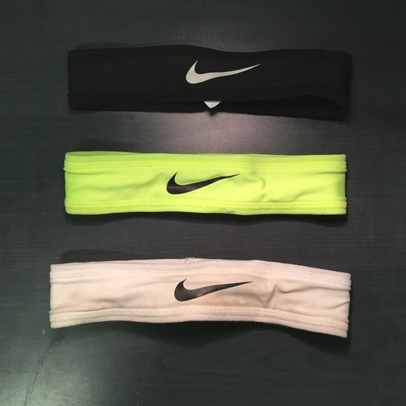 Nike Headband Bundle 3 Nike Headbands Neon,White,Black Nike Accessories Hair Accessories