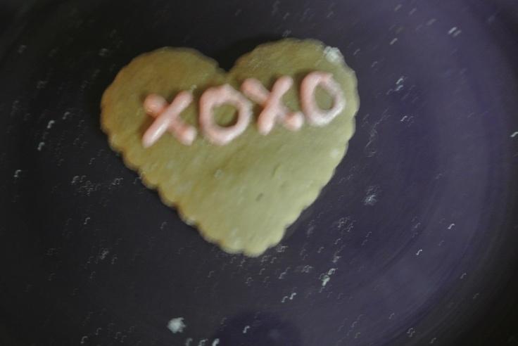 Decorated chocolate sugar cookies
