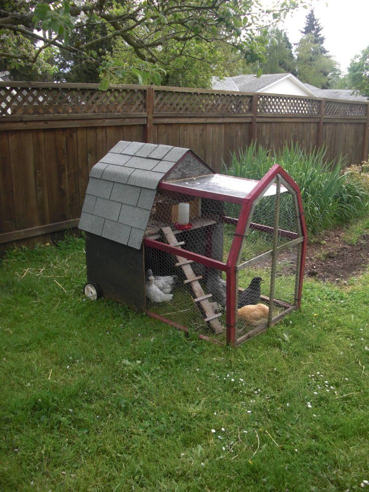 Chicken tractor!  I like the traditional barn roof shape. Hip roof.