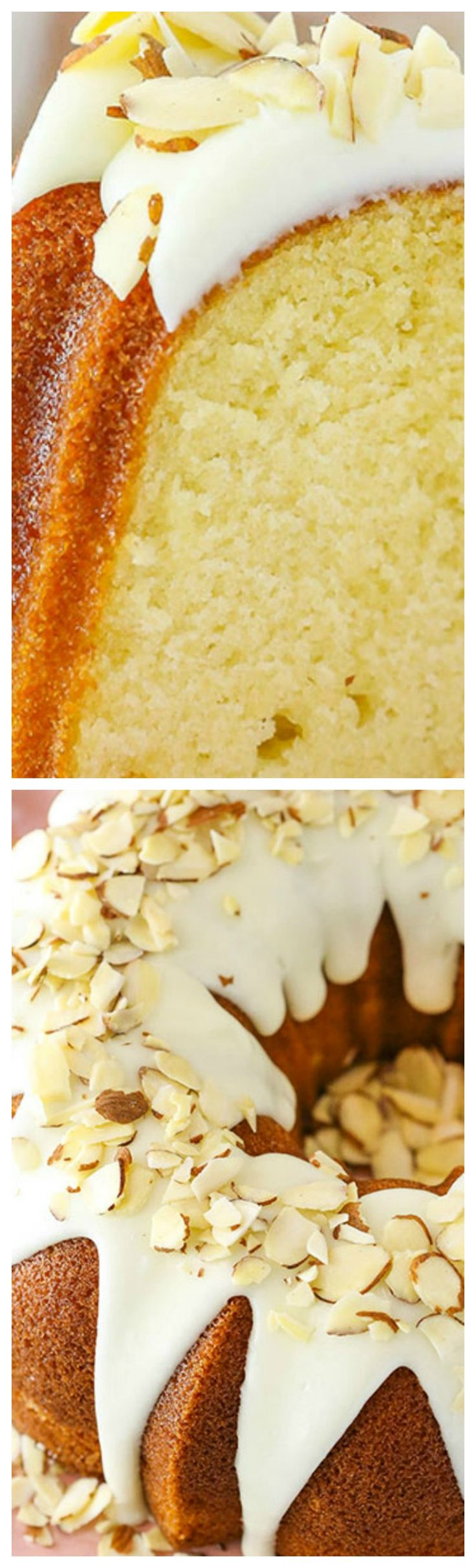 Almond Amaretto Bundt Cake ~ Soft, moist and full of delicious almond flavor... It's easy to put together and hard to resist!