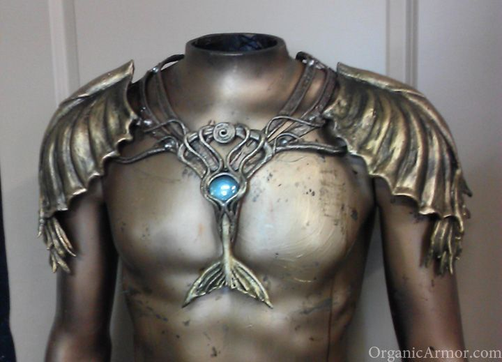 Merman - for Elijah? Or would Elijah be pure human lured into the mermaids lair? pauldron set by Organic Armor, custom made for Christomer Starfish
