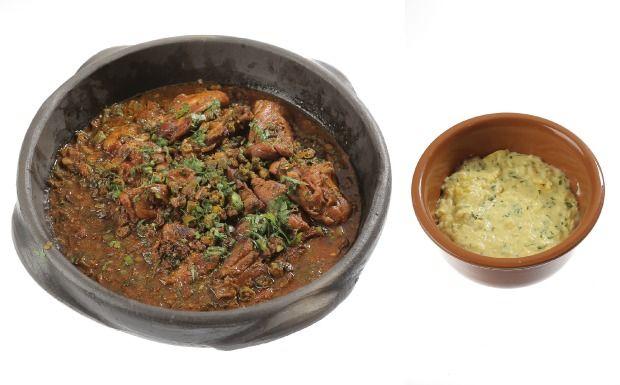 Frango com quiabo e polenta de milho verde - Cozinheiros em Ação - GNT