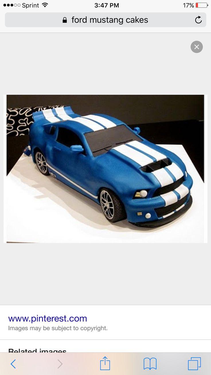 Mustang 5.0 cake