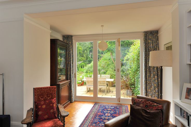 Bi-Fold Timber Door manufactured and fitted by The Sash Window Workshop