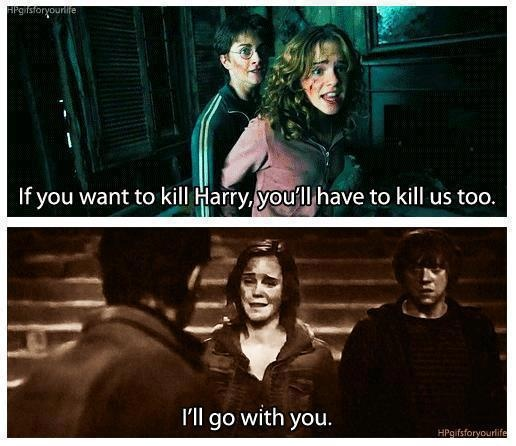 Their friendship is amazing:) Harry Potter and Hermione Granger