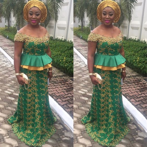 Stunningly Cute Aso Ebi Lace Styles for Weekend Parties...Stunningly Cute Aso Ebi Lace Styles for Weekend Parties