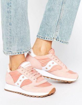 Saucony Exclusive Jazz Original Sneakers In Pink