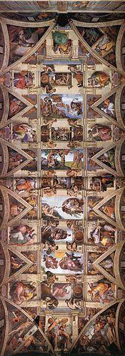 Plafond de la chapelle Sixtine — 9 épisode genèse (1508-1512)  Michel Ange 1475-1564