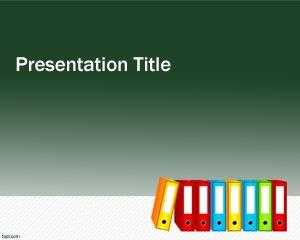 Free folders PowerPoint template background
