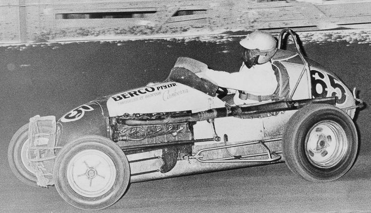 Garry Rush pilots the little Berco around the Showground Speedway back in the second half of the sixties. He was to win the last ever feature at the track some 30 or so yrs later