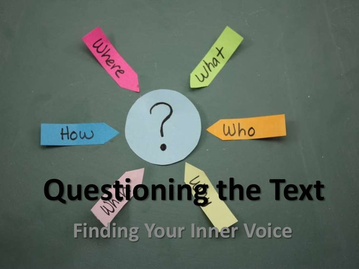 questioning-the-text by Michelle Williams via Slideshare