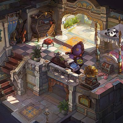 Earl Hutten's mansion, Packsod 百草头 on ArtStation at https://www.artstation.com/artwork/Jb5zv