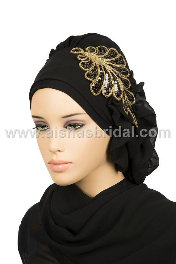 Ready To Wear Hijab  Code HT0144 by HAZIRTURBAN on Etsy, $29.71