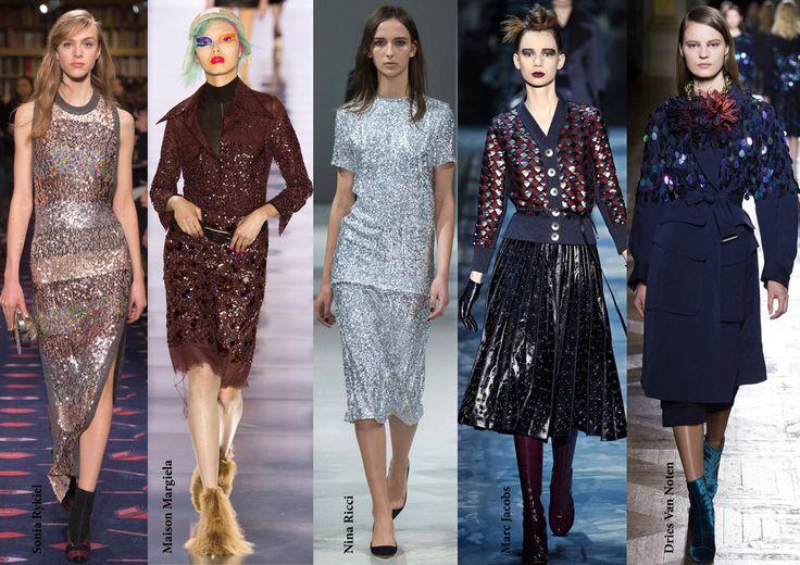 FW15 trends / Sequin / Női divat 2015 ősz tél / Flitter