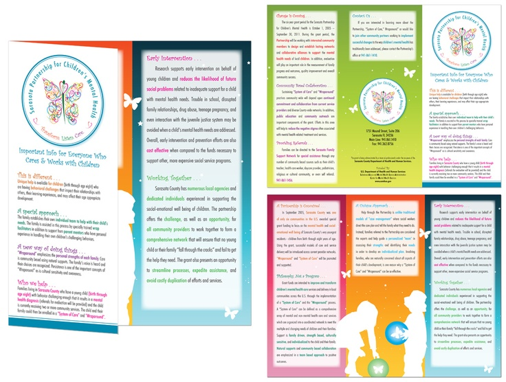 Client sarasota partnership for children 39 s mental health for Breastfeeding brochure templates